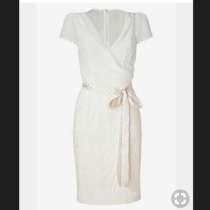 L'wren Scott ivory belted combo dress